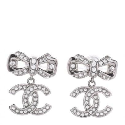chanel bow earrings