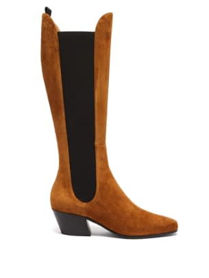 khaite chester knee-high boots