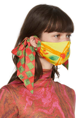 collina-strada-ssense-exclusive-yellow-and-green-floral-bow-face-mask