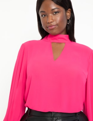 eloquii dramatic blouse