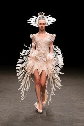 Look 21 - Iris van Herpen Couture - SS21 'Roots of Rebirth' - Photographed by Gio Staiano-mushroom fungi