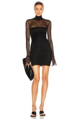 laquan smith mesh dress