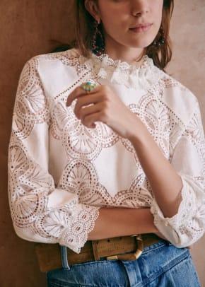 sezane baccall blouse
