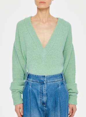 tibi v neck sweater