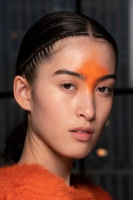 Dion Lee Fall 2020 beauty neon 2
