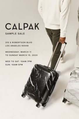 Calpak Sample Sale - Invitation