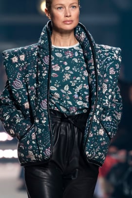 Isabel Marant Fall 2020 Shoulder Pads PFW Imaxtree