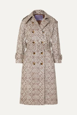 alexa-chung-snake-effect-faux-leather-trench
