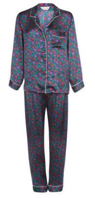 berry blue luxury silk pajama