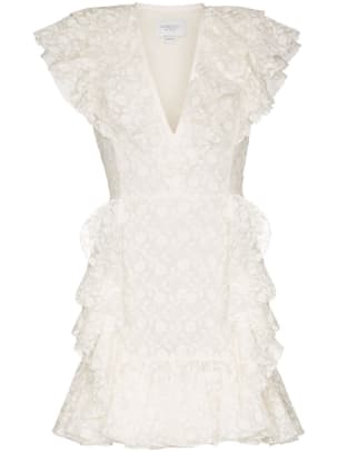 giambattista valli ruffled mini dress