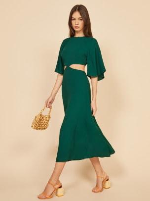 reformation-benny-dress-green