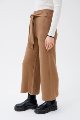 urban outfitters ribbed tie front wide leg.jpegpant