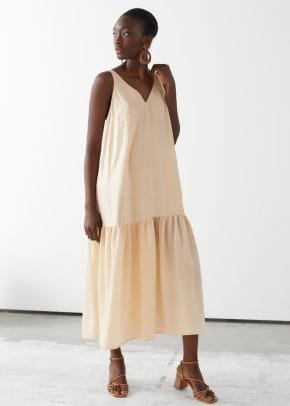 other-stories-voluminous-v-neck-midi-dress