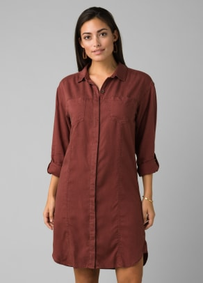 prAna Doryan Dress in Vino