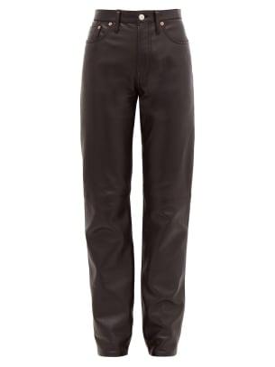 acne studios leather pants