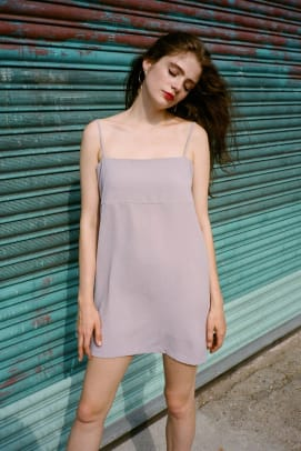 slip dress side party