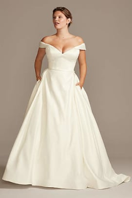 davids-bridal-off-the-shoulder-wedding-dress