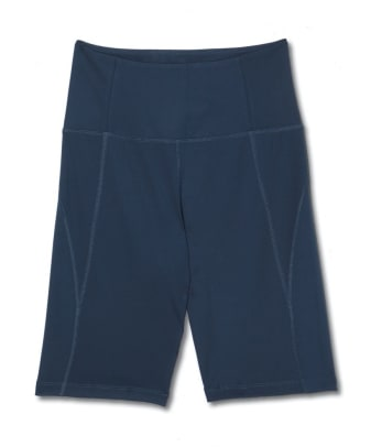 girlfriend collective navy shorts