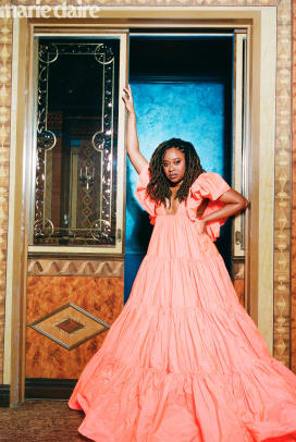 Phoebe Robinson Marie Claire Summer 2020 Valentino Gown 1