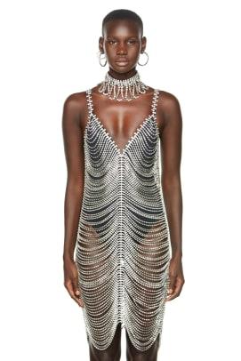 area crystal dress