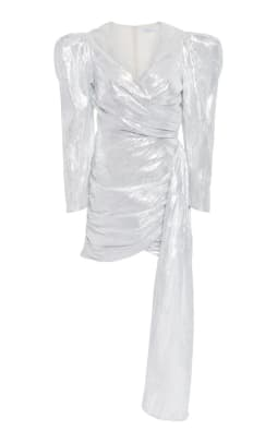 Atoir Luna Asymmetric Ruched Lame Mini Dress Moda Operandi