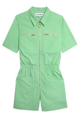l.f. markey green jumpsuit playsuit