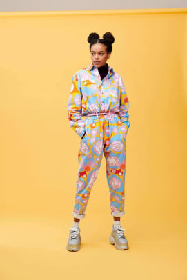 lucy and yak colorful boilersuit