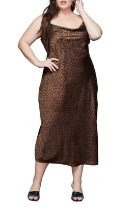 good american leopard dress