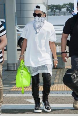 taeyang bigbang fashion style face mask bandana