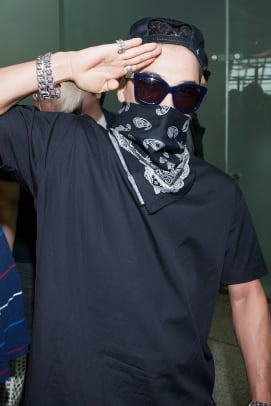taeyang fashion style face mask bandana