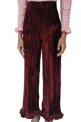 batsheva crushed velvet pants