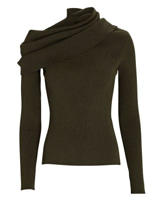 Monse Foldover Turtleneck Sweater Intermix