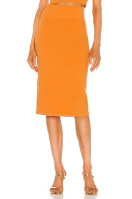 glemaud orange skirt