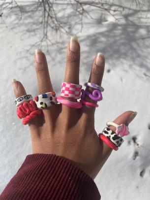 KA Designed Chunky Clay Rings Etsy