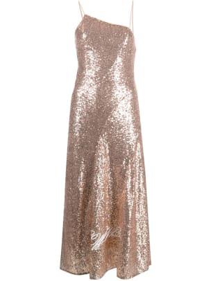 off-white sequin dress