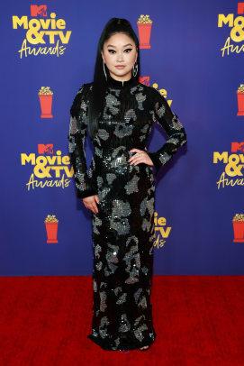 Lana Condor attends the 2021 MTV Movie & TV Awards