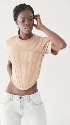 dion lee corset tee