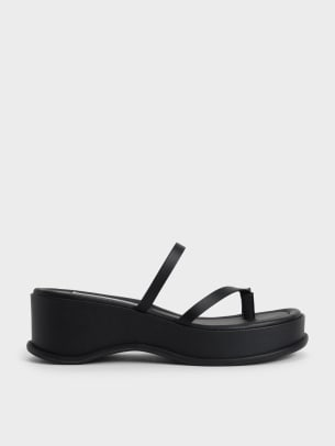 Charles and Keith Toe Loop Flatform Sandals