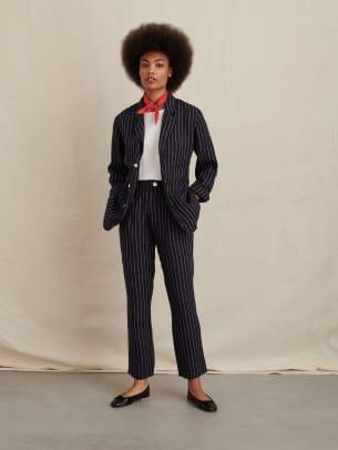 alex mill pinstripe suit