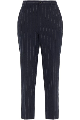 ganni cropped woven pant