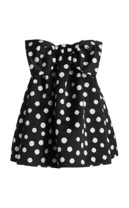 large_carolina-herrera-black-white-printed-bow-detail-satin-mini-dress