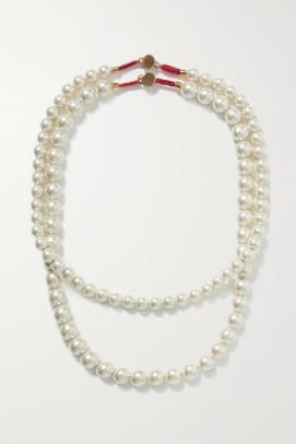 roxanne assoulin pearl necklace