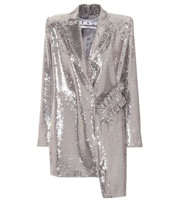 Off-White Sequin Dress MyTheresa