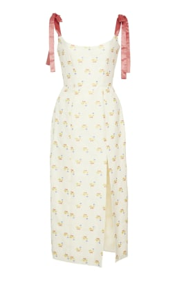 markarian darcy floral embroidered corset dress