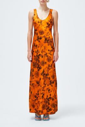 galvan orange dress