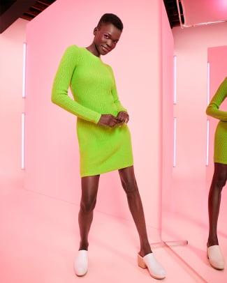 VictorGlemaudxTarget_Women'sLongSleeveSweaterDress-Green