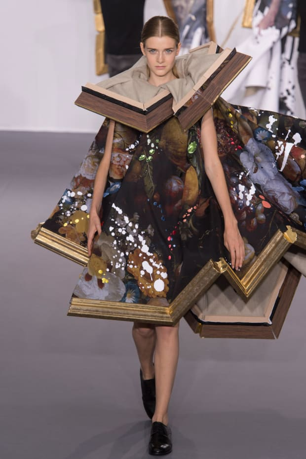 Viktor Rolf Took The Fashion As Art Theme Very Literally At Its Couture Show Fashionista
