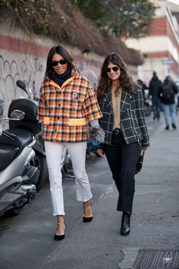 Showgoers Wore Their Best Statement Coats at Milan Fashion
