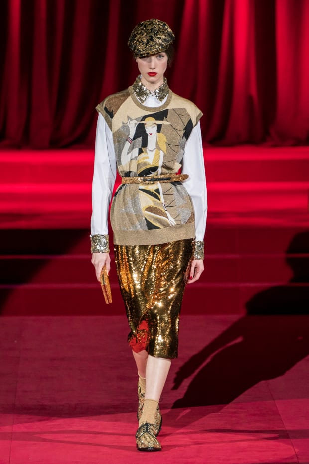 87f9e4e7f7a7 Dolce & Gabbana Goes Back to Fashion Basics for Its Fall 2019 Collection -  Fashionista
