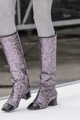 chanel glitter boots. chanel glitter boots o